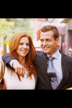 """Harvey and Donna, one of my favorite pictures of them. Everything about his face says, """"this is Donna, she's my favorite person. She's the coolest human on the planet...you cannot have her she is my Donna!"""""""
