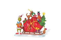 THE GRINCH Village Dr. Seuss Christmas Figurine 804158 THE GRINCH'S SMALL HEART
