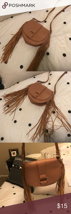 Fringe satchel! Very cute! Great condition. Used only once maybe! Bags Crossbody Bags