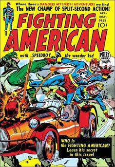 Fighting American harvey comic book cover art by Jack Kirby Free Comic Books, Vintage Comic Books, Comic Book Covers, Vintage Comics, Comic Books Art, Comic Art, Comic Book Artists, Comic Book Heroes, Comic Superheroes