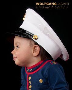 children, child, military, marine corps, marines, uniform, patriotism, cute, adorable, innocent, innocence, portrait, portraiture, richmond, virginia, wolfgang jasper, photography, fine art photography, fine art portraits, studio, www.howldog.com