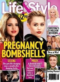 Selena Gomez and Miley Cyrus: Are They BOTH Pregnant?!? - The Hollywood Gossip