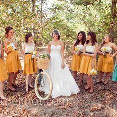 I love the bridesmaid dresses
