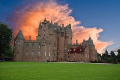 Glamis Castle, Angus, Scotland -  famous as the setting for William Shakespeare's play 'Macbeth', Glamis is reported to be the most haunted castle in Scotland.