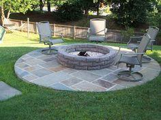 backyard fire pit designer yard - Google Search