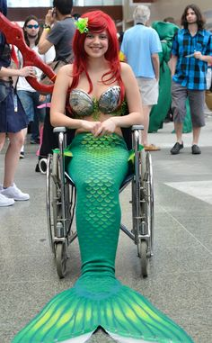 Ariel from The Little Mermaid////and it works out perfectly too. Anyone can do cosplay!