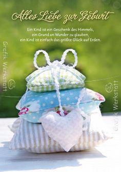 Zur Geburt - Doppelkarten - Grafik Werkstatt Bielefeld