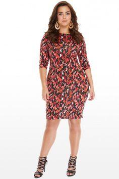 Plus Size Zarah Geo Bodycon Dress | Fashion To Figure