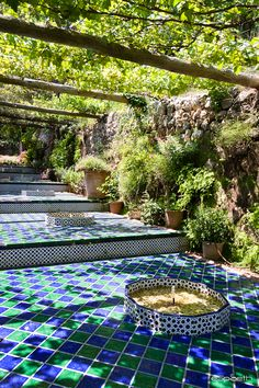 La Granja: azulejos (carrelage) - Sentiers d'Images