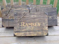 Groomsmen Gift Engraved Box SET OF 5 by PaulyTurnerDesigns on Etsy, $150.00