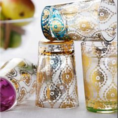 Indian print glasses