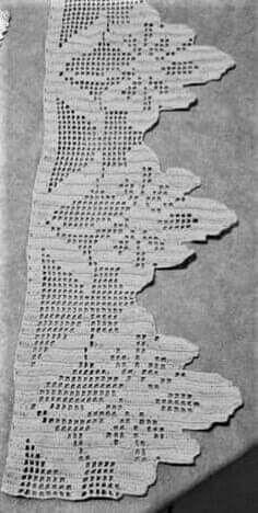 Crochet Patterns Filet, Crochet Doily Diagram, Crochet Lace Edging, Thread Crochet, Crochet Designs, Crochet Doilies, Crochet Flowers, Crochet Boarders, Fillet Crochet