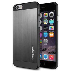 iPhone 6 Case, Spigen Aluminum Fit Case for iPhone 6 (4.7-Inch) - Retail Packaging -  Space Gray (SGP10948) Spigen http://www.amazon.com/dp/B00JH888P0/ref=cm_sw_r_pi_dp_kiEVub10F95DQ