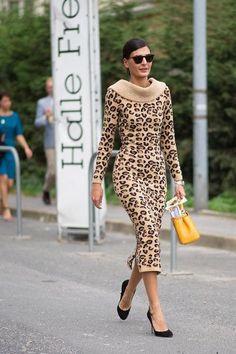 Leopard body con sweater dress. #JLoveFragrance inspiration.