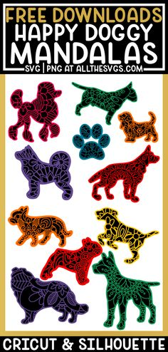 Silhouette Projects, Silhouette Studio, Image Svg, Project Free, Free Dogs, Cricut Creations, Svg Files For Cricut, Design Crafts, Flower Patterns