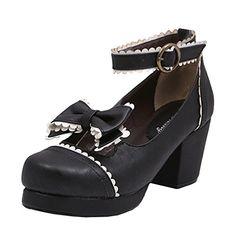Partiss Damen Gothic High-top Boots Casual Schuhen Lolita Pumps Herbst Fruehling Rubber-Soled Lace Lolita Schuhe,CN 35,Black Partiss http://www.amazon.de/dp/B01D43D1UK/ref=cm_sw_r_pi_dp_mf36wb096JKH4