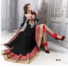 Thankar Amazing Heavy Designer Black Embroidery Anarkali Suit-Clothing-Thankar