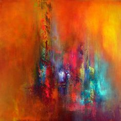 """""""Shine Your Soul"""" Acrylic on deep edge canvas, 60x60 cm"""