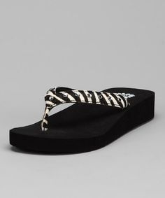 8869855349 Take a look at this Zebra Parker Sandal by Yellow Box Shoes on today!