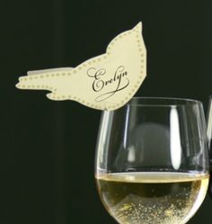 birds place cards! We make place card on my cricut! It adds so much to a table or dinner party table