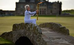 olympic torch St Andrews old course, Scotland