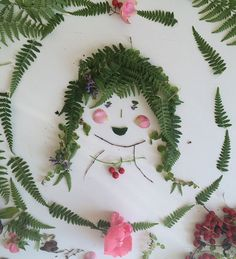 Play with foliage to make faces / willowday