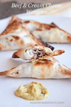 beef & cream cheese wontons.
