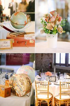 Stasia & Jonathan // vintage travel wedding, Manassas VA // Kristin Partin Photography