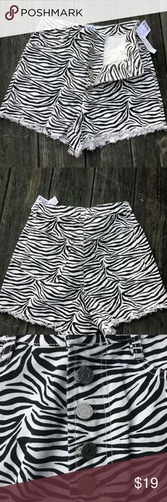 6328bb8d0b5a Urban outfitters zebra print high waist shorts! Urban outfitters super cute  and sassy zebra print