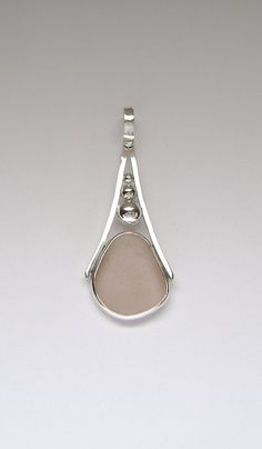 Sterling Rare Pink Sea Glass Pendant