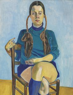 Alice Neel (American, 1900-1984), Vera Beckerhoff, 1972. Oil on canvas, 60 x 32 in.