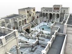 ArtStation - The courtyard of castle, Konstantyn Danylenko