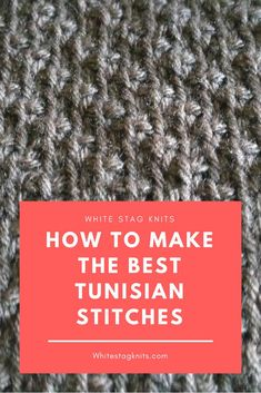 Struggling to figure out Tunisian Crochet? This guide will have you swatching in no time!Click through to find the best stitches on White Stag Knits. Tunisian Crochet Patterns, Crochet Stitches For Beginners, Baby Afghan Crochet, Baby Afghans, Crochet Blankets, Easy Crochet Projects, Crochet Ideas, Craft Projects, Knitting Kits