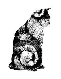 cat three screenprint