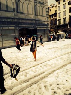 Hailstorm in Florence