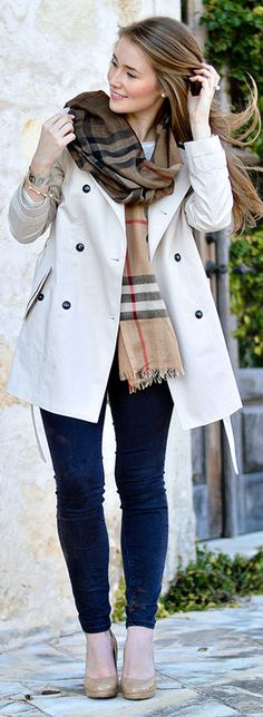 ombre burberry scarf. in love!