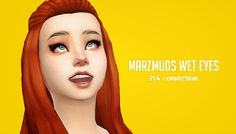 """A sorry gift for not posting cc in a while :( These are Marzmuds (Tealeaf) edits of Amarylls Wet eyes. Originals here. All 16 colors included. """"Liahx_MarzmudWetEyes.package Download: facepaint / non..."""