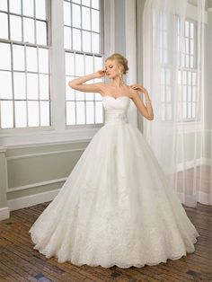 Ball Gown Wedding Dress by Mori Lee
