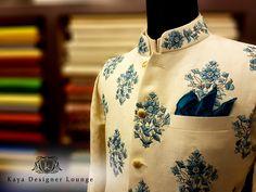 Nehru Jacket Linen Embroidery Summerspring2017 kaya Designer Lounge
