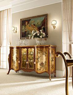 Italian Luxury Dining Room Wood Furniture. Andrea Fanfani Italy                                                                                                                                                                                 More