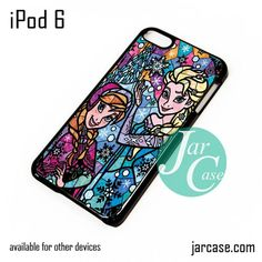 elsa anna stained glass iPod Case For iPod 5 and iPod 6