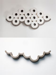 CLOUD Toilet Paper Shelf by Bertrand Jayr | moddea made of concrete. 125.00