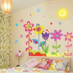 New Kids Wall Sticker Home Decor Decorative Art Mural Decal Flower Removable | eBay