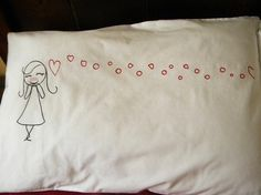 VALENTINE'S HIS   HERS MATCHING PILLOW SET