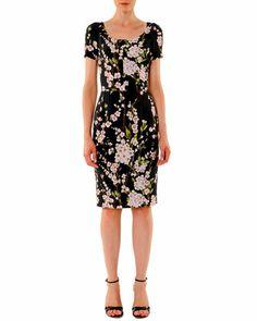 Short-Sleeve Floral Sheath Dress by Dolce & Gabbana at Bergdorf Goodman.