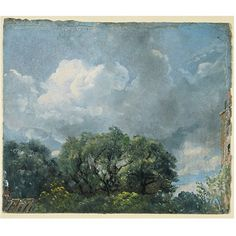 Study of sky and trees - John Constable - oil sketch