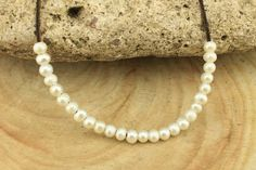 T-L078 loose pearls, 2.5mm large hole freshwater pearls,5-6 mm potato pearl beads,loose freshwater pearl, 50 pieces White pearls