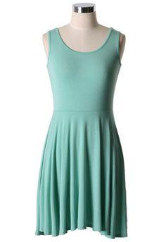 Pastel Green Tank Dress