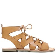 Indigo Rd Women's Bardot Lace Up Sandals (Sand Dune) - 7.5 M