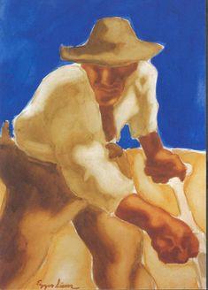 The Mower - Albin Egger-Lienz Franz Marc, Expressionist Artists, Wassily Kandinsky, Horses, Canvas, Artwork, Painting, Creativity, Twitter